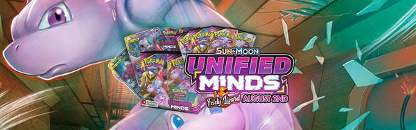 Pokemon TCG Cards Unified Minds Mewtwo Mew Sun Moon
