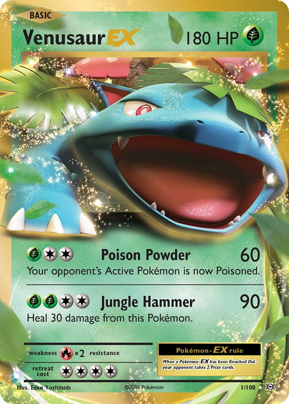 1/108 Venusaur EX Rare Evolutions - The Feisty Lizard