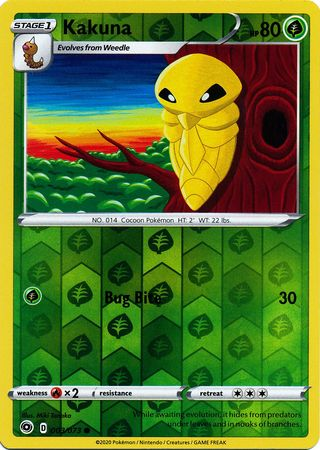 003/073 Kakuna Common Reverse Holo Champion's Path - The Feisty Lizard Melbourne Australia