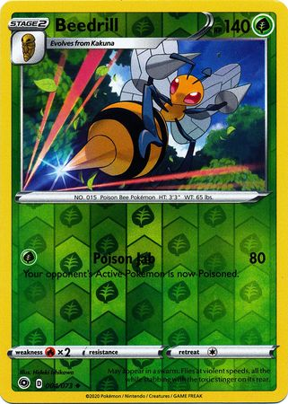 004/073 Beedrill Uncommon Reverse Holo Champion's Path - The Feisty Lizard