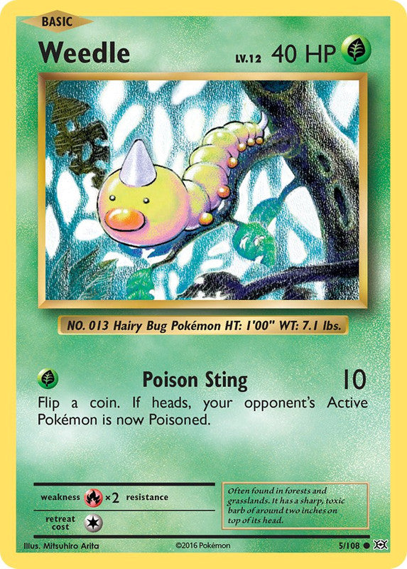 5/108 Weedle Common Evolutions - The Feisty Lizard