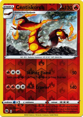 010/073 Centiskorch Holo Rare Reverse Holo Champion's Path - The Feisty Lizard