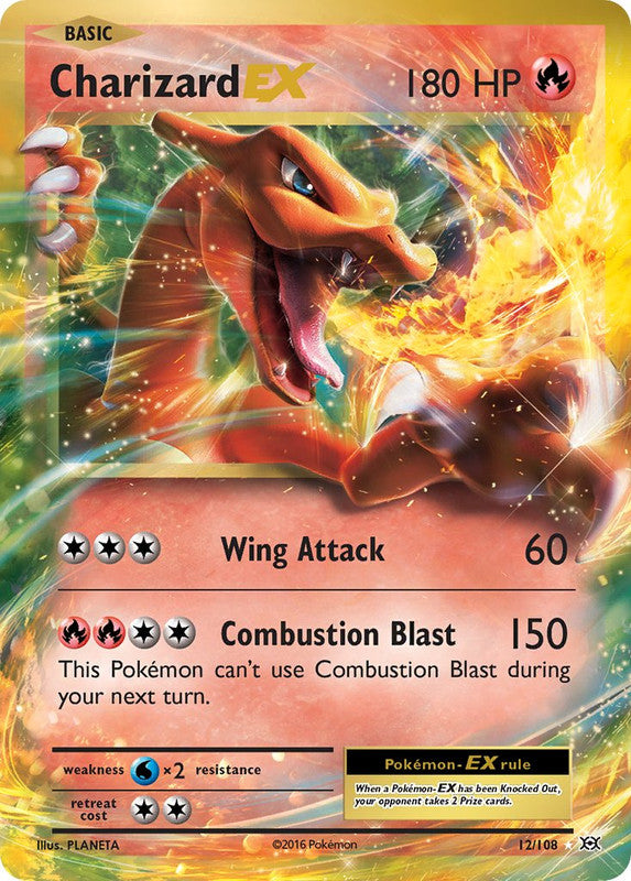 12/108 Charizard EX Rare Evolutions - The Feisty Lizard