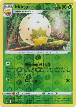 21/202 Eldegoss Uncommon Reverse Holo Sword & Shield - The Feisty Lizard