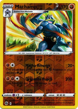 026/073 Machamp Holo Rare Reverse Holo Champion's Path - The Feisty Lizard