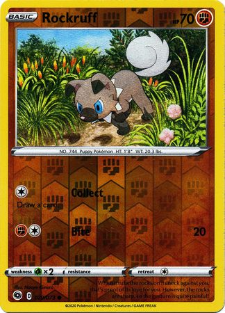 029/073 Rockruff Common Reverse Holo Champion's Path - The Feisty Lizard Melbourne Australia
