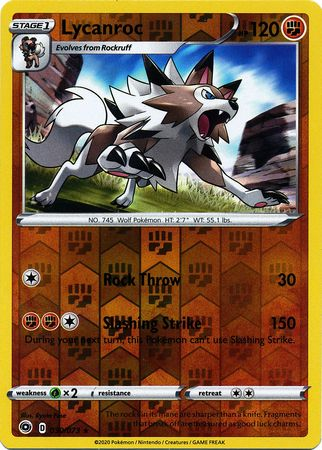 030/073 Lycanroc Holo Rare Reverse Holo Champion's Path - The Feisty Lizard Melbourne Australia