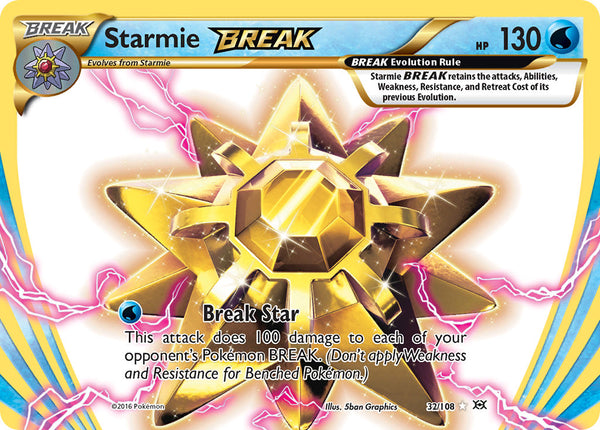 32/108 Starmie BREAK Rare BREAK Evolutions - The Feisty Lizard