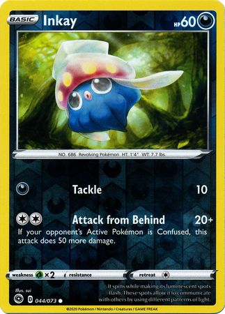 044/073 Inkay Common Reverse Holo Champion's Path - The Feisty Lizard