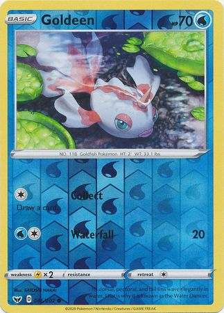 46/202 Goldeen Common Reverse Holo Sword & Shield - The Feisty Lizard