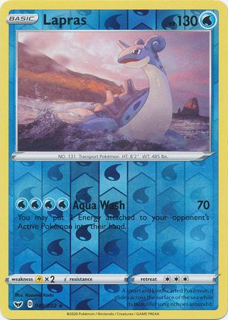 48/202 Lapras Rare Reverse Holo Sword & Shield - The Feisty Lizard