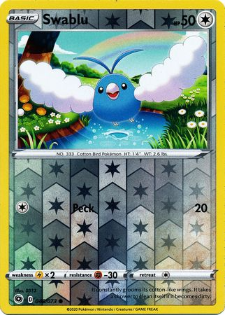 048/073 Swablu Common Reverse Holo Champion's Path - The Feisty Lizard