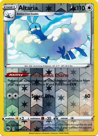049/073 Altaria Holo Rare Reverse Holo Champion's Path - The Feisty Lizard Melbourne Australia