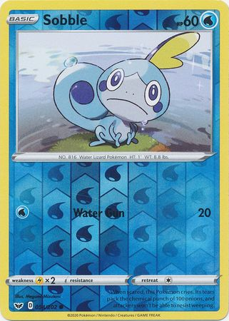 54/202 Sobble Common Reverse Holo Sword & Shield - The Feisty Lizard