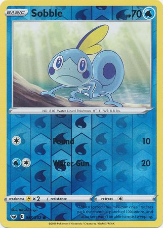 55/202 Sobble Common Reverse Holo Sword & Shield - The Feisty Lizard