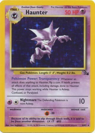 6/62 Haunter Holo Rare Fossil Set Unlimited - The Feisty Lizard