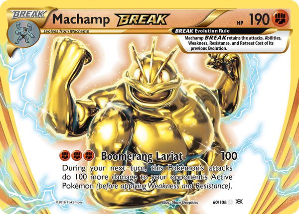60/108 Machamp BREAK Rare BREAK Evolutions - The Feisty Lizard
