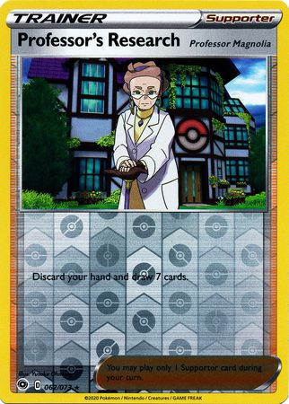 062/073 Professor's Research Holo Rare Reverse Holo Champion's Path - The Feisty Lizard