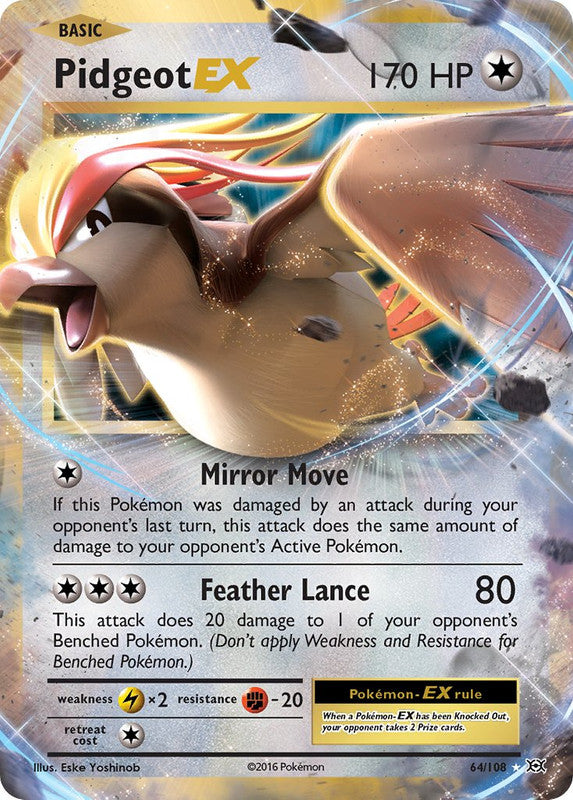 64/108 Pidgeot EX Rare Evolutions - The Feisty Lizard