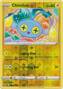 68/202 Chinchou Common Reverse Holo Sword & Shield - The Feisty Lizard