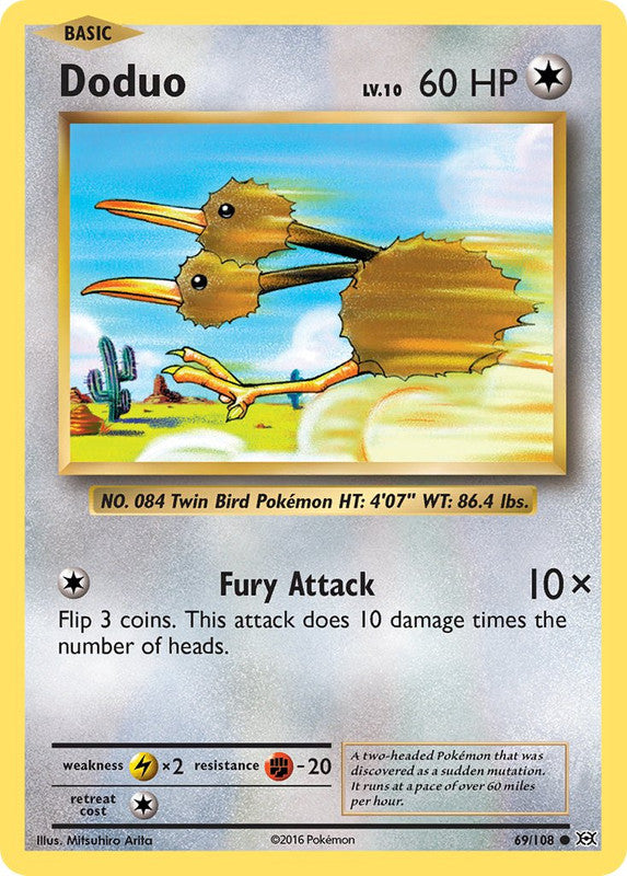 69/108 Doduo Common Evolutions - The Feisty Lizard Melbourne Australia