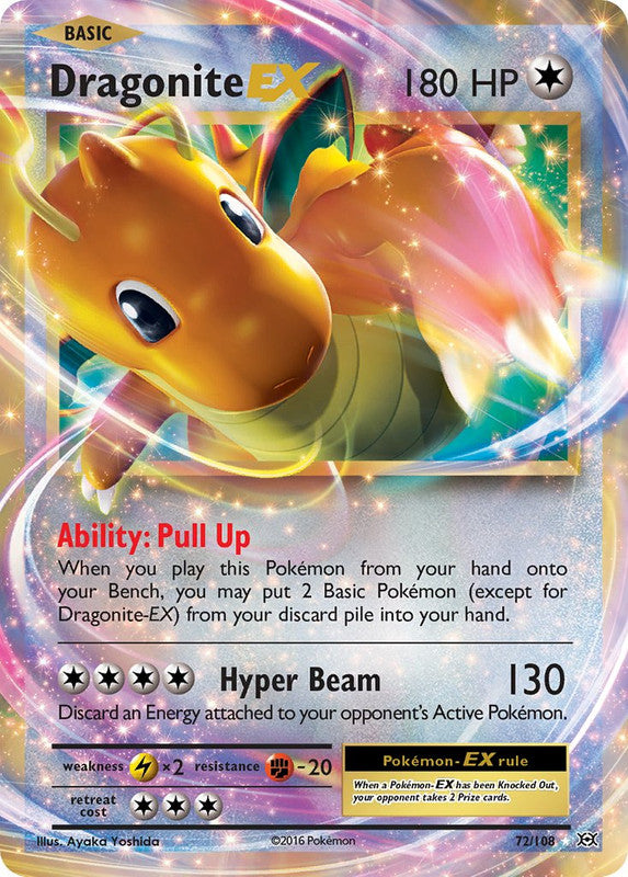 72/108 Dragonite EX Rare Evolutions - The Feisty Lizard