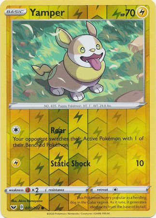 73/202 Yamper Common Reverse Holo Sword & Shield - The Feisty Lizard