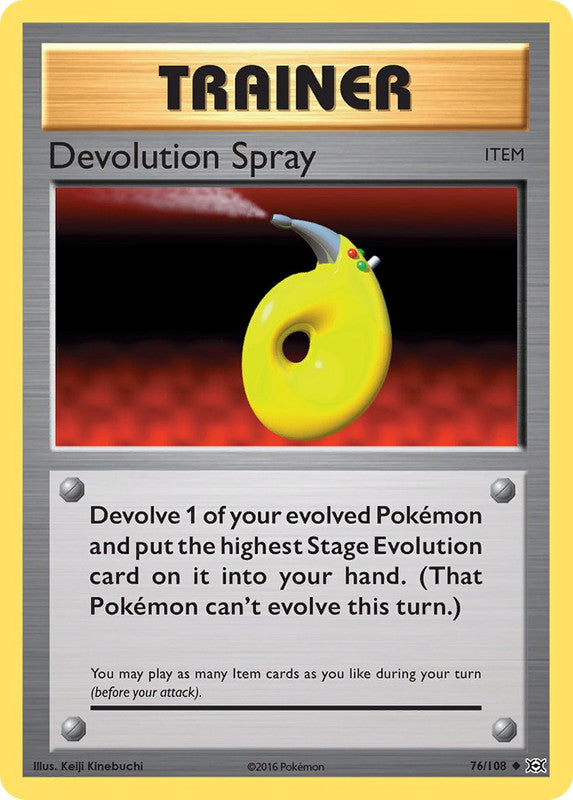 76/108 Devolution Spray Uncommon Trainer Evolutions - The Feisty Lizard