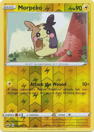 78/202 Morpeko Rare Reverse Holo Sword & Shield - The Feisty Lizard Melbourne Australia