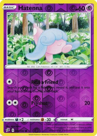 083/192 Hatenna Common Reverse Holo Rebel Clash - The Feisty Lizard Melbourne Australia