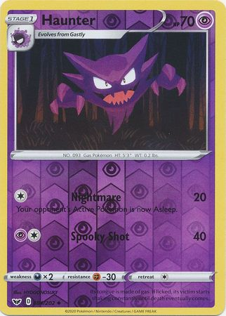 84/202 Haunter Uncommon Reverse Holo Sword & Shield - The Feisty Lizard