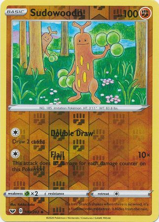 100/202 Sudowoodo Uncommon Reverse Holo Sword & Shield - The Feisty Lizard