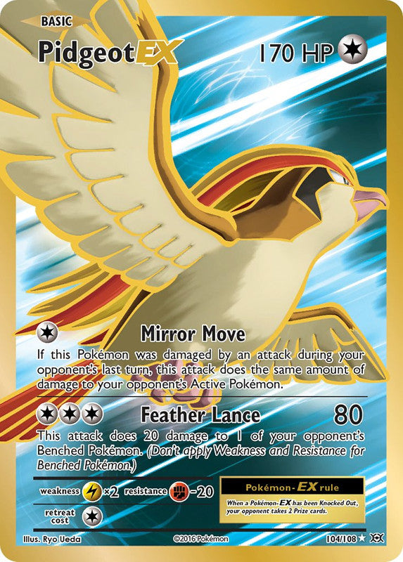 104/108 Pidgeot EX Full Art Evolutions - The Feisty Lizard