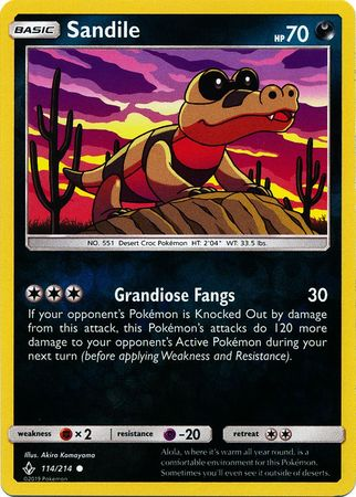 114/214 Sandile Common Reverse Holo Unbroken Bonds - The Feisty Lizard