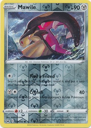 129/202 Mawile Common Reverse Holo Sword & Shield - The Feisty Lizard
