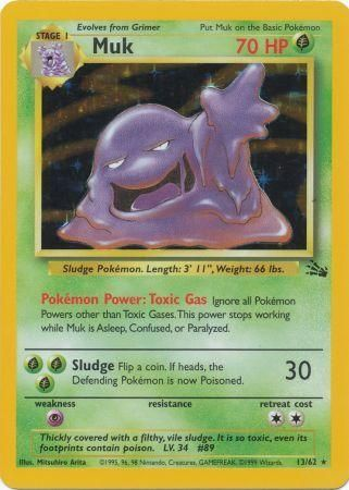 13/62 Muk Holo Rare Fossil Set Unlimited - The Feisty Lizard