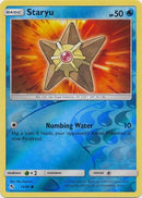 13/68 Staryu Common Reverse Holo Hidden Fates - The Feisty Lizard