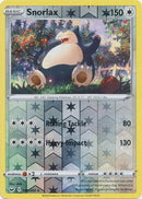 140/202 Snorlax Rare Reverse Holo Sword & Shield - The Feisty Lizard Melbourne Australia