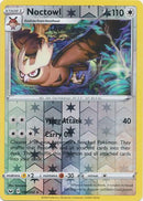 144/202 Noctowl Rare Reverse Holo Sword & Shield - The Feisty Lizard Melbourne Australia