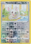 145/202 Minccino Common Reverse Holo Sword & Shield - The Feisty Lizard Melbourne Australia