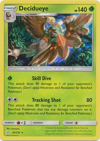 20/236 Decidueye Rare Holo Cosmic Eclipse - The Feisty Lizard Melbourne Australia