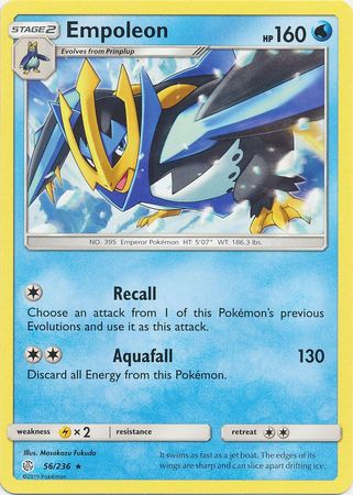 56/236 Empoleon Rare Cosmic Eclipse - The Feisty Lizard Melbourne Australia