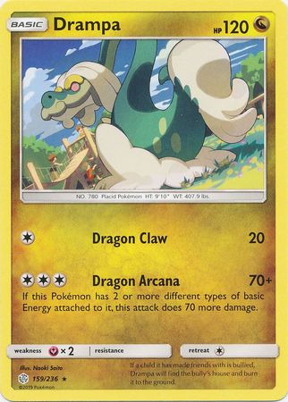 159/236 Drampa Rare Cosmic Eclipse - The Feisty Lizard Melbourne Australia