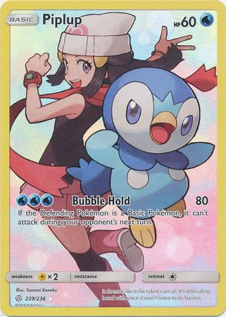239/236 Piplup Secret Rare Character Cosmic Eclipse - The Feisty Lizard