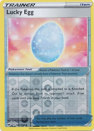 167/202 Lucky Egg Trainer Uncommon Reverse Holo Sword & Shield - The Feisty Lizard Melbourne Australia