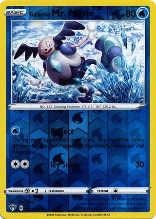 035/189 Galarian Mr. Mime Common Reverse Holo Darkness Ablaze - The Feisty Lizard