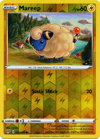 055/189 Mareep Common Reverse Holo Darkness Ablaze - The Feisty Lizard