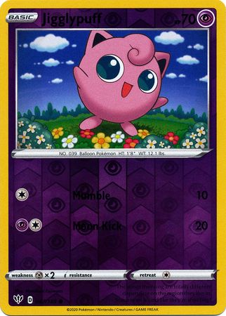 067/189 Jigglypuff Common Reverse Holo Darkness Ablaze - The Feisty Lizard