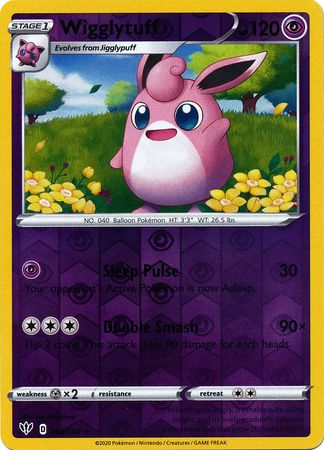 068/189 Wigglytuff Rare Reverse Holo Darkness Ablaze - The Feisty Lizard