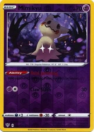 081/189 Mimikyu Rare Reverse Holo Darkness Ablaze - The Feisty Lizard